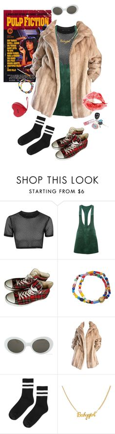 """""""Joanne"""" by soapish ❤ liked on Polyvore featuring Topshop, Converse, Retrò, Lilli Ann, Amy Winehouse, Moschino, Marlboro, Mink and girlgang"""