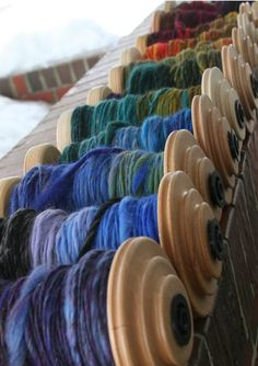 I'd love to have this many bobbins! Pretty!