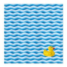 Lone Rubber Ducky Shower Curtain
