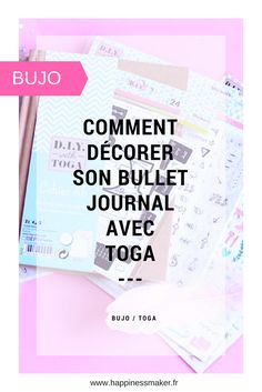 comment décorer son bullet journal pour les débutants avec les tampons, pochoirs et accessoires de la gamme bujo de chez Toga Bullet Journal Agenda, Bullet Journal Junkies, Daily Journal, Book Journal, Bullet Journals, Journal Ideas, Planner Organisation, Organization Bullet Journal, Diy Agenda