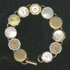 1920S Art Deco Cufflink Bracelet от anastatias на Etsy