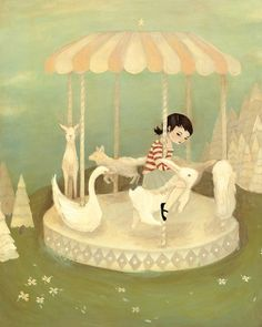 I love Emily Winfield Martin's whimsical artwork.  Check out her page, The Black Apple.  She has art, crafts and wondrous things galore!