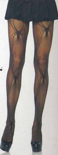 Make your Halloween costume stand out with these sultry, black widow, spider web, fishnet tights in regular size and free shipping on all U.S. orders. $11.50
