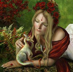 Tiny Horned Dragon [Fantasy Art Addiction: www.facebook.com/Chinqwe]