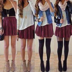 skirt maroon pleated mini skirt gold black cute tank top