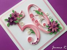 Big personalised greeting card/Handmade/Quilling/Birthday/Anniversary