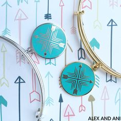 Alex and Ani Charity By Design Arrows Of Friendship Charm Bangle. Benefiting Best Buddies International.