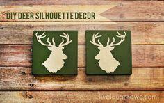DIY Deer Head Silhouette Decor with LiveLaughRowe.com