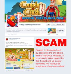 Hackers are targeting Candy Crush Saga players on Facebook with malware!