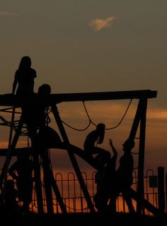 'Evening playground' by janetbythesea