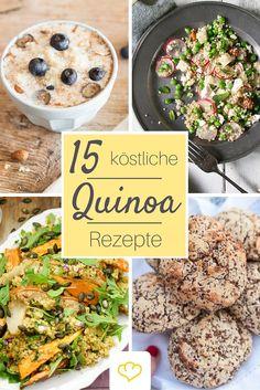 Ob Sattmacher-Salate, ein gesundes Frühstück oder sogar Brötchen und Gebäck - Quinoa ist wunderbar vielseitig! #quinoa #salat