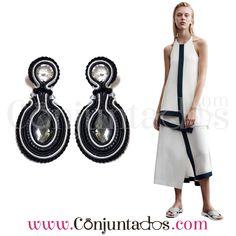 Pendientes de soutache Dori negros (Diseño exclusivo) ★ 24'95 € ★ Cómpralos en https://www.conjuntados.com/es/pendientes/pendientes-de-soutache/pendientes-de-soutache-dori-en-blanco-y-negro-dise-o-exclusivo.html ★ #pendientes #earrings #artesanal #handmade #soutache #madeinspain #conjuntados #conjuntada #joyitas #jewelry #bijoux #accesorios #complementos #moda #eventos #bodas #outfit #estilo #style #GustosParaTodas #ParaTodosLosGustos