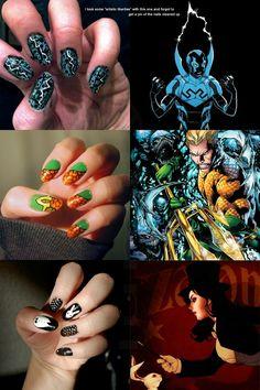more comic book nails!