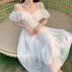 Fairytale Dress, Fairy Dress, Korean Girl Fashion, Asian Fashion, Pretty Outfits, Pretty Dresses, Girly Outfits, Dress Outfits, Mode Lolita