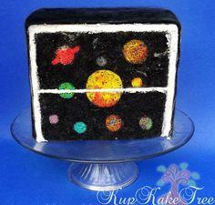 planet cake Solar System INSIDE a Cake