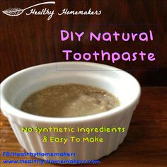 DIY Natural toothpaste with coconut oil and clay (fluoride free, gmo free, synthetic ingredient free)