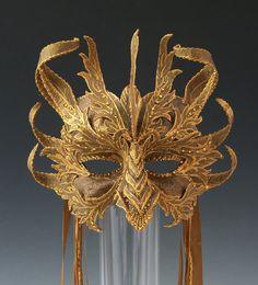 Mask of Art! by Tina on Etsy Villain Mask, Dragon Half, Mask Face Paint, Bronze Dragon, Goblin King, Half Mask, Cool Masks, Carnival Masks, Beautiful Mask