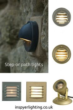 At Inspyer Lighting we can provide you with recessed low voltage light fittings for stairs, step lights, passageways, level change lighting and garden pathways enabling you to create a beautiful lighting effect on your steps. Industrial Lighting, Outdoor Lighting, Pendant Lighting, Exterior Wall Light, Exterior Lighting, Davey Lighting, 19th Century London, Garden Steps, Path Lights