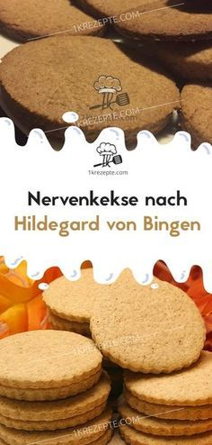 Nerve biscuits after Hildegard von Bingen - Nerve cookies according to Hildegard von Bingen – recipes - Frosting Recipes, Cookie Recipes, Snack Recipes, Dessert Recipes, Snacks, Yummy Recipes, Cake Vegan, Sugar Cookie Icing, Sugar Cookies