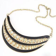 Stripes and Spikes Collar Necklace / Kay & Kompany