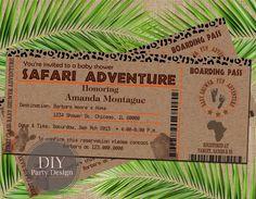Invitation d'anniversaire de Safari billet par DIYPartyDesign
