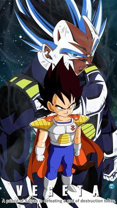 A Prince of Saiyan Defeating A God of Destruction by Dragon Ball Gt, Dragon Ball Image, Fotos Do Pokemon, Majin, Goku Y Vegeta, Dbz Characters, Cartoon, Destruction, Deviantart