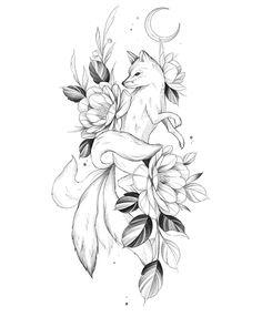 Dope Tattoos, Mini Tattoos, Body Art Tattoos, Small Tattoos, Sleeve Tattoos, Art Drawings Sketches, Cute Drawings, Tattoo Drawings, Fox Tattoo Design