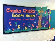 Chicka chicka boom boom: back to school kindergarten bulletin board!