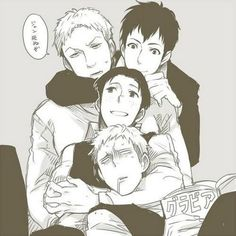 Awww... The lovey guys... #manga #SnK #AoT #yoai_ship