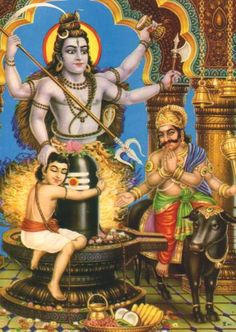 .Lord Markandeya is protected by Lord Shiv from Yamraj.