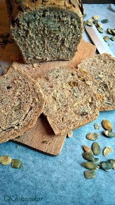 Koskacukor: Tökmagos teljes kiőrlésű kenyér Stepping Stones, Paleo, Food And Drink, Health, Outdoor Decor, Recipes, Stair Risers, Health Care, Salud