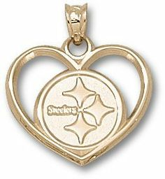 Pittsburgh Steelers 14K Gold Circle Logo Heart Pendant by Logo Art. $179.95. This Pittsburgh Steelers charm/pendant comes gold plated, stainless steel, 10K or 14K. Whichever you choose, it is sure to be a hit! Great gift for your favorite Pittsburgh Steelers fan!