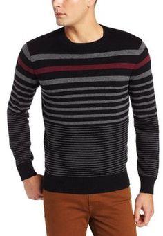 John Henry Men's Stripe Crew Neck Sweater on shopstyle.com