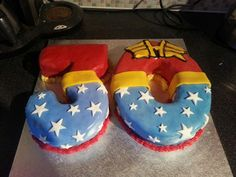 Wonder Woman inspired cake I made for a friends 30th birthday.