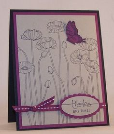 Pleasant Poppies, Papillion Potpourri and A Word for You ~ Stampin' Up!