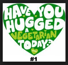 Today (Sept is National Hug a Vegetarian Day) Why Vegetarian, Vegetarian Quotes, Vegan Quotes, Vegetarian Recipes, Vegetarian Buffet, Thing 1, Veggie Tales, Vegan Lifestyle, Going Vegan