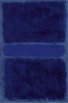 Night blue(mark Rothko) expressionniste abstrait.