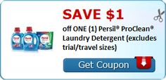 New Coupon!  SAVE $1.00 off ONE (1) Persil® ProClean® Laundry Detergent (excludes trial/travel sizes)! - http://www.stacyssavings.com/new-coupon-save-1-00-off-one-1-persil-proclean-laundry-detergent-excludes-trialtravel-sizes-6/