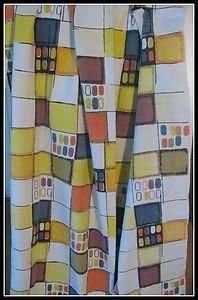VINTAGE 50S PAIR OF RETRO KITCHEN CURTAINS 43 inches drop by 46 inches accross | eBay