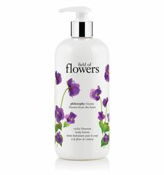 Philosophy Field of Flowers Violet Blossom Shampoo, Shower Gel & Bubble Bath Philosophy Products, Bath Gel, Shower Gel, Bath Shower, Cosmetic Packaging, Body Lotions, Body Wash, Bath And Body, Bubbles