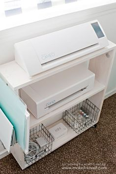 Easy DIY Craft CartPerfect Silhouette Storage – Storage Cart – Ideas of Storage … Craft Storage Cart, Craft Organization, Diy Storage, Scrapbook Organization, Storage Ideas, Creative Storage, Easy Diy Crafts, Diy Crafts For Kids, Kids Diy