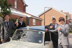 1963 stretched Mini limousine wedding car Ivory Paint, Wedding Car, Navy, Mini, Blue