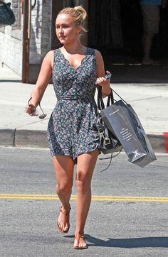 Hayden Panettiere Photos - Actress Hayden Panettiere out shopping at OnePiece Jump In store in Beverly Hills, CA. - Hayden Panettiere Out Shopping In Beverly Hills Curvy Women Fashion, Latest Fashion For Women, Womens Fashion, Party Dresses For Women, Summer Dresses For Women, Clothing For Tall Women, Hayden Panettiere, Petite Outfits, People
