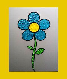 Flower 16 x 20 in. Canvas #LiteralPopArt #PopArt #Art #VisualArt #Flowers #Petals #Nature #Garden Organic #Green #GoingGreen #Blue #Cerulean #MichaelCrayola #2017