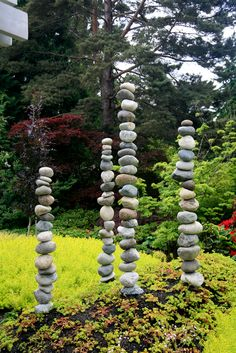 Bellevue Botanical Garden stacked stones #pacificnorthwest