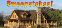 COUNTDOWN! Log Home Builders Choice SWEEPSTAKES DRAWING!   ONLY 40 days to go!  SWEEPSTAKES! Want to win? CLICK HERE-> http://www.eloghomes.com/gallery/egallery.php?id=fbkswp33