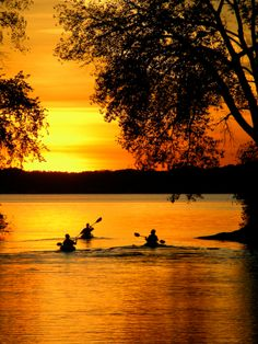 kayaks at sunset Kayak Camping, Canoe And Kayak, Kayak Fishing, Kayaks, Canoes, Outdoor Fun, Outdoor Camping, Outdoor Life, Kayak Paddle