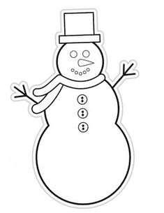 Printable Snowman Craft Template  Snowman And Craft