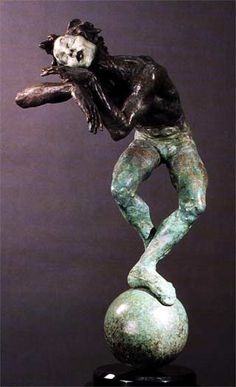 Sleep, Marcel, Sleep Richard MacDonald bronze sculpture #Mime #Bellagio #LasVegas