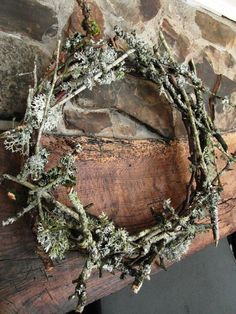Handmade lichen Wreath